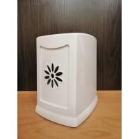 Диспенсер для салфеток настольный пластиковый белый